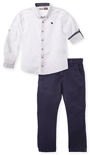 offcorss-matching-brother-siblings-twins-outfits-boys-pants-long-sleeve-button-shirt-blue-white-set-