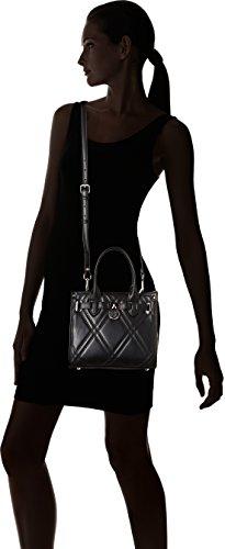 Tommy Hilfiger - American Icon Mini Tote Quilted, Bolsos bandolera Mujer, Noir (Black), 11.5x20x22.5 cm (W x H L)