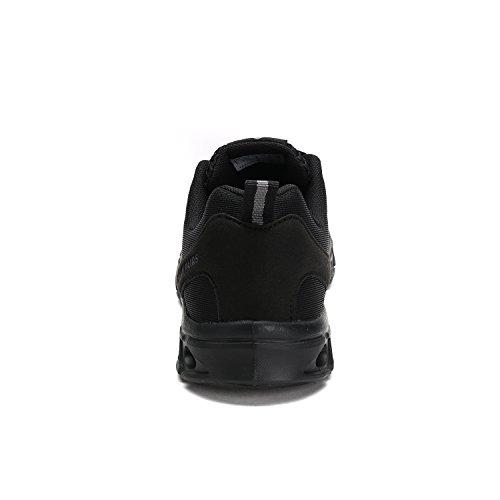 DREAM PAIRS Mens 160712 Summer Mesh Light Weight Flexible Athletic Easy Walking Sport Water Swim Shoes All-black-2 ggwpC