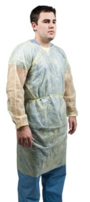 Graham Field Infection Control - Grafco 3806 Polypropylene Isolation Gown, Yellow, Box of 10 (Pack of 10)
