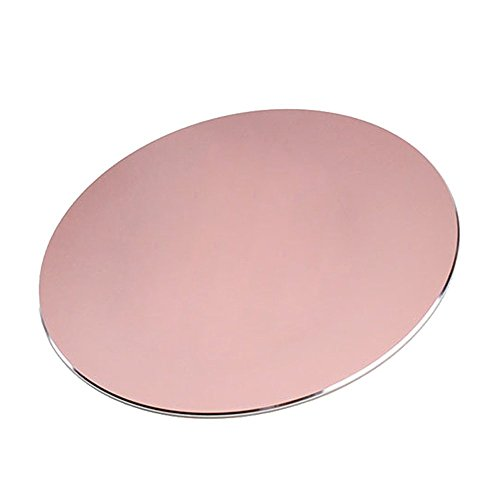 NewBull Rose Gold 220x220mm Circular Aluminium Metal Mouse Pad with Non-Slip Rubber Base and Waterproof Frosted Suface