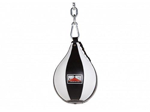 Pro caja pera de boxeo de piel negro velocidad bolsa gimnasio en casa Pro Box