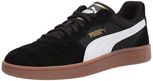 PUMA Men's Astro Kick Sneaker, White-teamgold/Black, 7 M US (Puma Mens Leather Shoes)