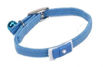 Li'l Pals Adjustable Kitten Collar with Bow & Bell - Light Blue - 5/16