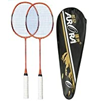 Badminton Racquet Set of 2 with Free (2 Shuttle Cocks)