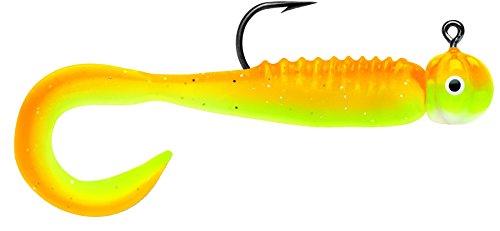 Curl Tail Jig 1/32 Orange Chartreuse Glow