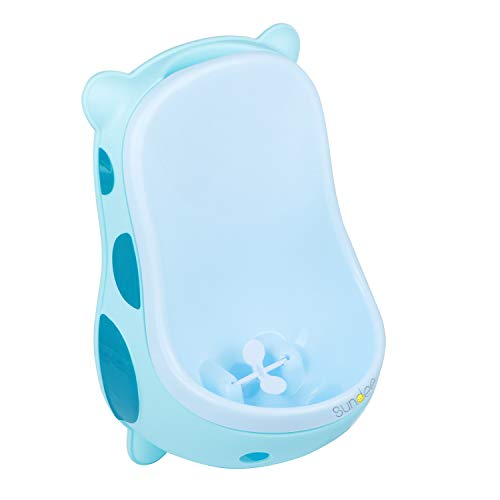 Cute Cow Urinal Potty Training for Boys with Funny Aiming Target/Portable Toilet Training, Potty Urinal Pee Trainer Urine (Blue)