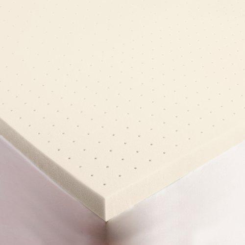 "SleepJoy 3"" Memory Foam Mattress Topper made with Biofresh,"