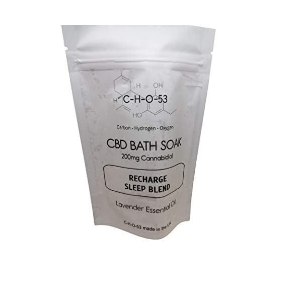 Recharge – Sleep Blend 200mg CBD Bath SOAK Large 150g Handmade in The UK