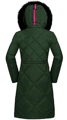 Long Girl Warm In Ladies Fashion Gr��n Jacket Cappuccio Casual Pelliccia Sleeve Con Addensare Down Parka Inverno Coat Cl��sico Esterno TEqpxTf