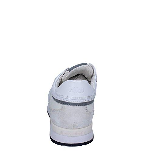 Harmont & Blaine Sneakers Uomo 43,5 EU Bianco Pelle/Tessuto