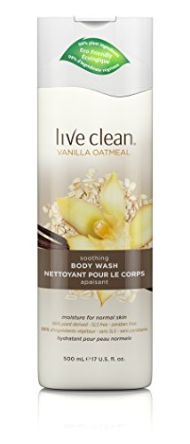 Live Clean Vanilla Oatmeal Soothing Body Wash, 17 oz.