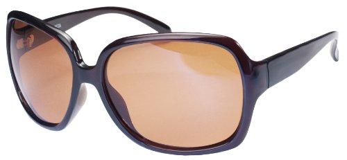 Mirror Amber (Polarized Sunglasses with Flash Mirror lens APL75 (Dark Tortoise & Amber))