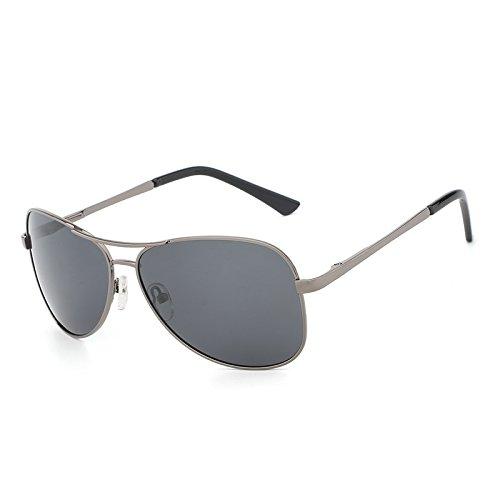 Gafas lan Clásico Pilot Metal Sol de de Gray Black Sol conducción protección gray Gun polarizadas de de New Color Gafas Shuo Designer Gafas Nuevas Costume Men UV400 de qtPCdtw