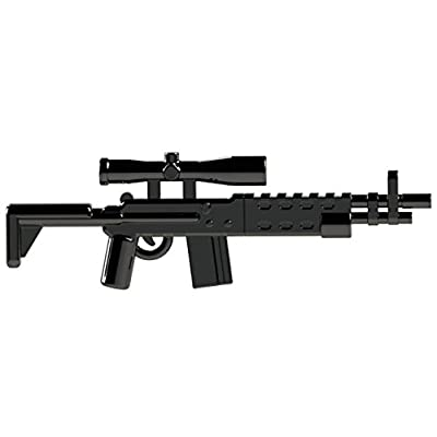 "CombatBrick Brick Builder Toy Sniper Rifle - 2"" M14 EBR for Minifigure: Toys & Games"