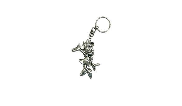 Disney Placa del anillo dominante Minnie Mouse llavero de ...