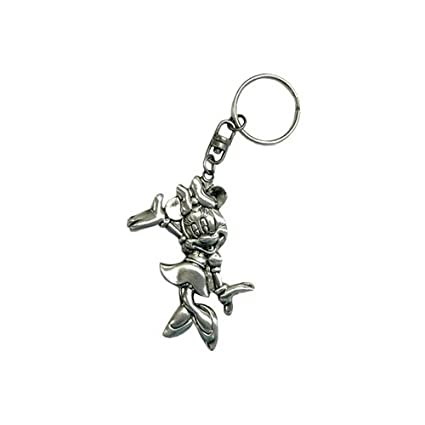 Disney Minnie Mouse Keychain Metal Plate Key Ring