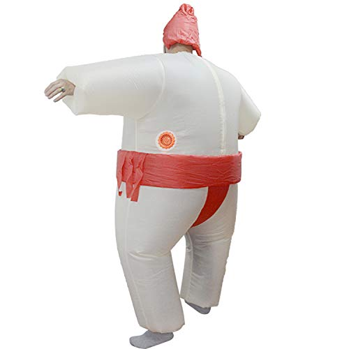 LOVEPET Inflatable Sumo Costume Christmas Halloween Funny Show Wrestling Props Fat Man Sumo Inflatable Parent-Child Clothing Masquerade Props]()