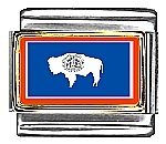 Wyoming State Flag Italian...
