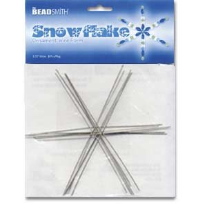 Snowflake Beaded Ornaments (Metal Wire Snowflake Forms - Fun Craft Beading Project 6 Inches)