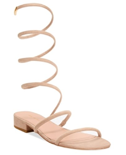 Avec Les Filles Womens Caila Open Toe Casual Ankle, Pink Champagne, Size 8.0