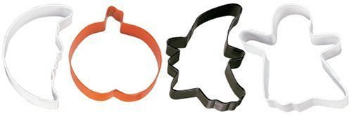 Wilton Spooky Shapes 4-Piece Cookie Cutter Set -