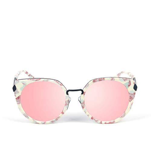 de polarisées de Sakuldes Frame Frame en Lunettes de Gradient Mode Pink Hommes de Lens Conduite Sport Soleil de White Green Lunettes pour Soleil Lens de Color métal pêche Les de g55tx