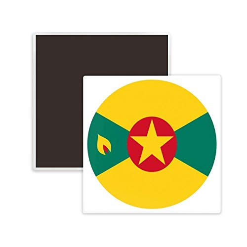 DIYthinker Grenada North Ameica National Emblem Square Ceramics Fridge Magnet 2pcs