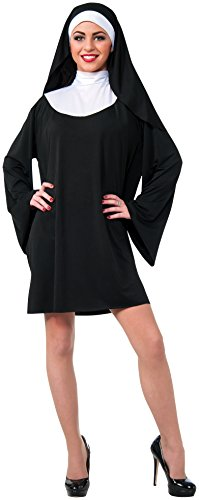 Rubie's Women's Nun Costume, Black/White, Small