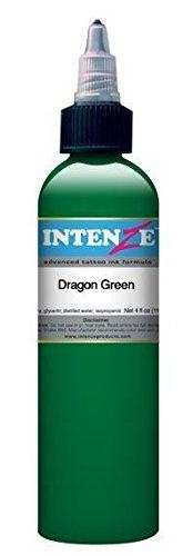 (Tattoo Ink Intenze Tattoo Ink, Dragon Green Light Color 1 oz Bottle)
