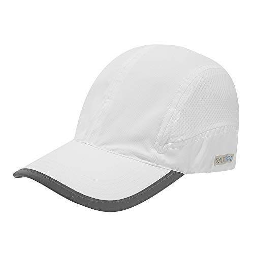 BUILTCOOL Adult Baseball Hat - Men & Women Mesh Ball Cap, One Size, White