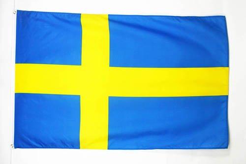 AZ FLAG Bandiera Svezia 150x90cm - Bandiera Svedese 90 x 150 cm