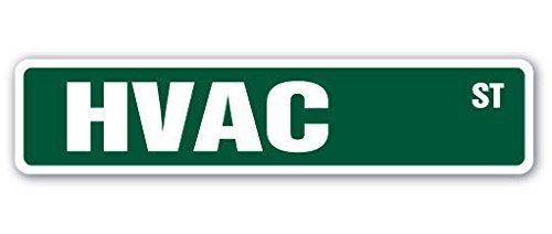 HVAC Street Sign high voltage air conditioning ac| Indoor/Outdoor | 8