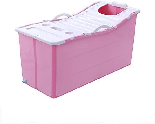 バスタブ大きなバスタブ、プラスチックタブ、ポータブルバスタブ、子供のタブ、大人バスタブ (Color : Pink)