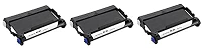 3 black compatible replacement Brother Intellifax 775 thermal Fax printer ink ribbon roll cartridge to replace PC-301 PC301 Intelli-fax machine