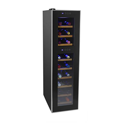 - Cuisinart CWC-1800DZTS Private Reserve Dual Zone Wine Cellar, 18 Bottles, Black