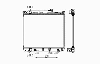amazon com suzuki xl7 2 7l v6 replacement radiator with automaticSuzuki Automatic Transmission Diagram #20