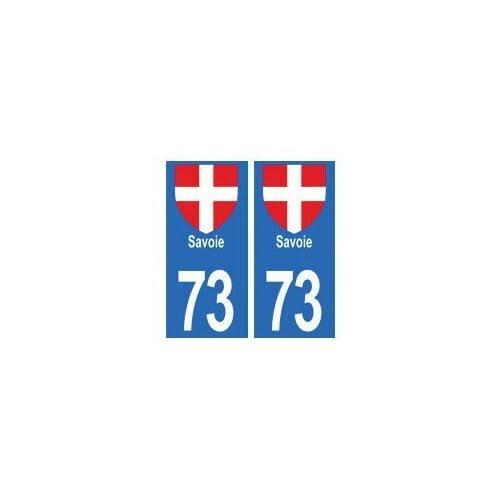73 Savoie autocollant plaque - arrondis