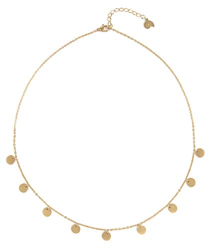 Happiness Boutique Multi Circles Necklace in Gold Color | Necklace with Round Disc Pendants
