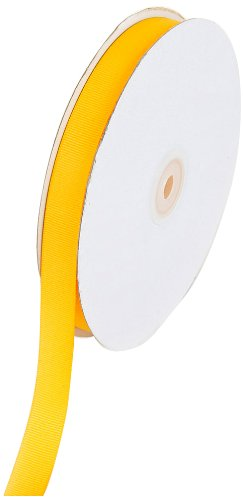 Creative Ideas 50-Yard Solid Grosgrain Ribbon, 5/8-Inch, Light Gold