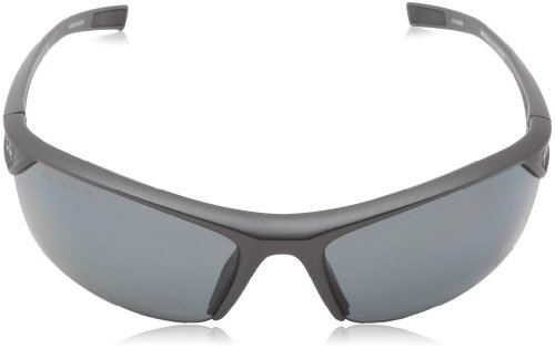 Under Armour Zone 2.0 Satin Carbon Frame, with Black Rubber and Storm (ANSI) Gray Polarized Lens