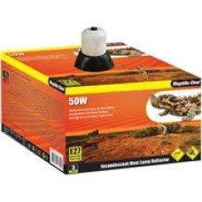 Reptile One Ceramic Heat Lamp Holder & Reflector 21.2Cm Dia. 100W