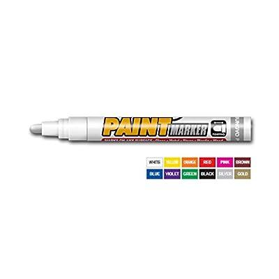 à l'Corée–marqueur peinture Permanent–Verre, métal, pierre, plastique, bois, etc. blanc