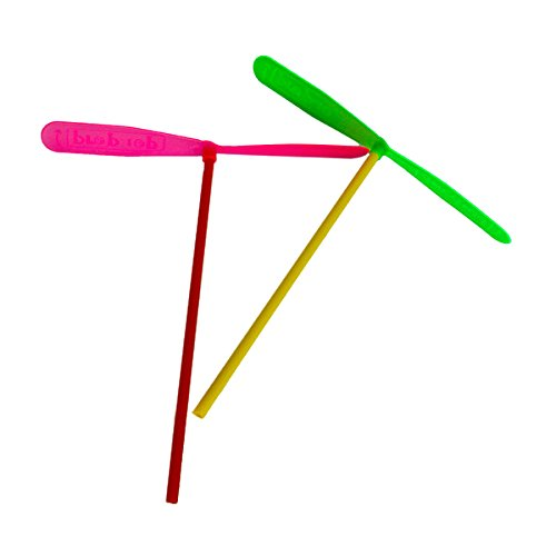 Plastic Dragonfly - SODIAL(R)24pcs Plastic Dragonfly Assortment A Whirl pinata fillers Mini Helicopter Gift Toy Birthday Party Kids Toy Multicolor
