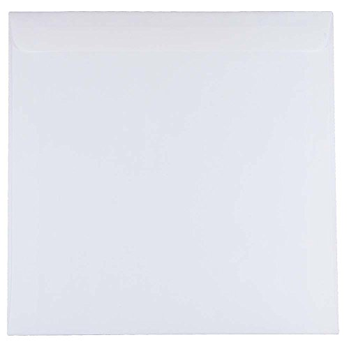 9.5 X 9.5 Square - JAM PAPER 9.5 x 9.5 Square Invitation Envelopes - White - 25/Pack