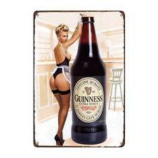 Metal Tin Sign Guinness Stout Beer Bar Pub Home Vintage Retro Poster Cafe Art