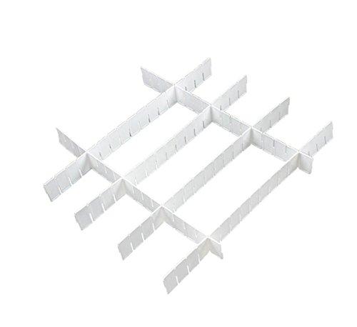 Saim Practical White Plastic DIY Home Grid Drawer Divider Storage Organizer 36 Pcs