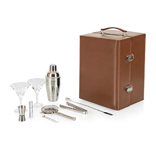 Legacy - a Picnic Time Brand Manhattan Cocktail Travel Set with Bar Tools, Mahogany (Travel Tools Bar)