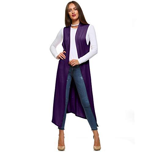 (Isaac Liev Women's Sleeveless Lightweight Duster Vest (2X-Large, Eggplant))