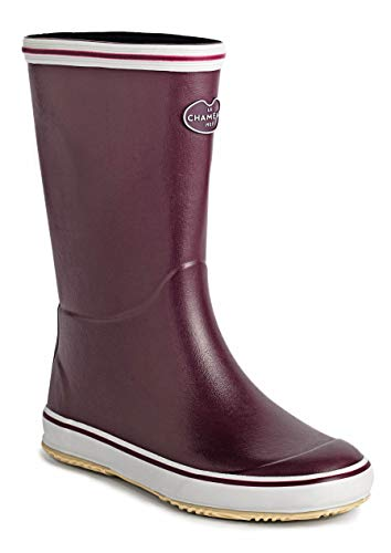(Women's Bréhat Jersey Lined Boot - Cherry/Vert Chameau - US 7.5)
